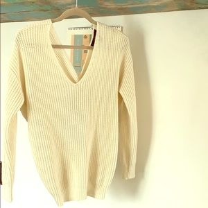 Sweaters - Open back knot knit sweater